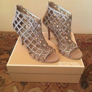 New Michael Kors Rhinestone Boots
